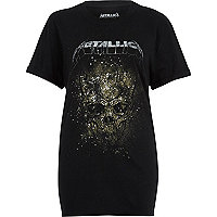 Black Metallica print band T-shirt