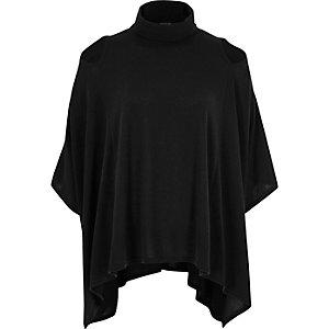 Dark grey poncho top