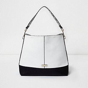Zwart met witte tas