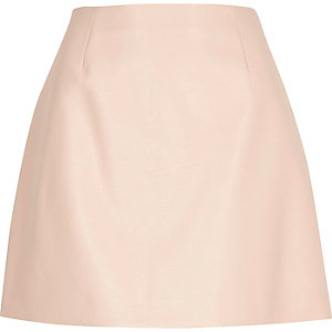 Light pink mini skirt