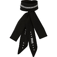 Black sparkly skinny scarf