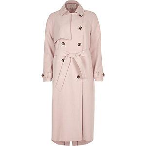 Light pink oversized trench coat