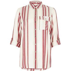 Chemise rayée rouge et blanche