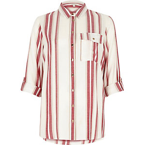 Rood en wit gestreept overhemd
