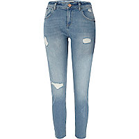 Light blue ripped relaxed skinny Alannah jean