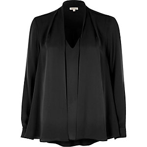 Zwarte 2-in-1-blouse