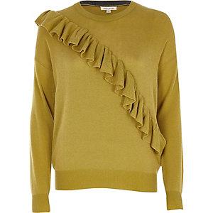 Mustard yellow frill jumper