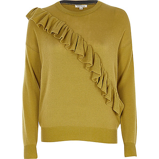 Mustard yellow frill jumper