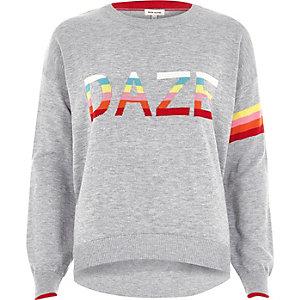 Pull DAZE en maille multicolore gris