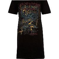 T-shirt Bardot imprimé groupe de rock noir