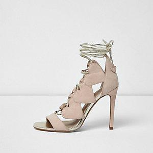 Pink tie detail shoe boot