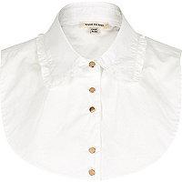 White frill collar bib