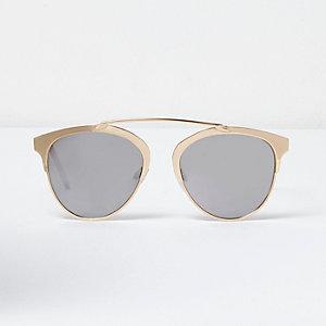 Goudkleurige zonnebril met brug