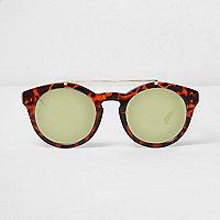 Braune, runde Schildpatt-Sonnenbrille