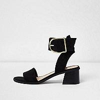 Zwarte oversized sandalen met gesp