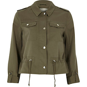 Khaki green military jacket
