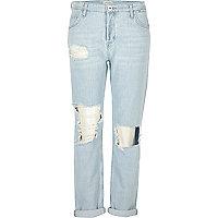 Ashely – Boyfriend-Jeans in hellblauer Waschung