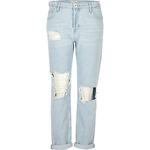 Ashley light blue wash boyfriend jeans