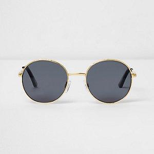 Goudkleurige zonnebril met smoke glazen