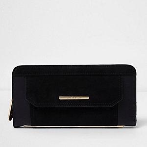 Zwarte portemonnee met rits rondom