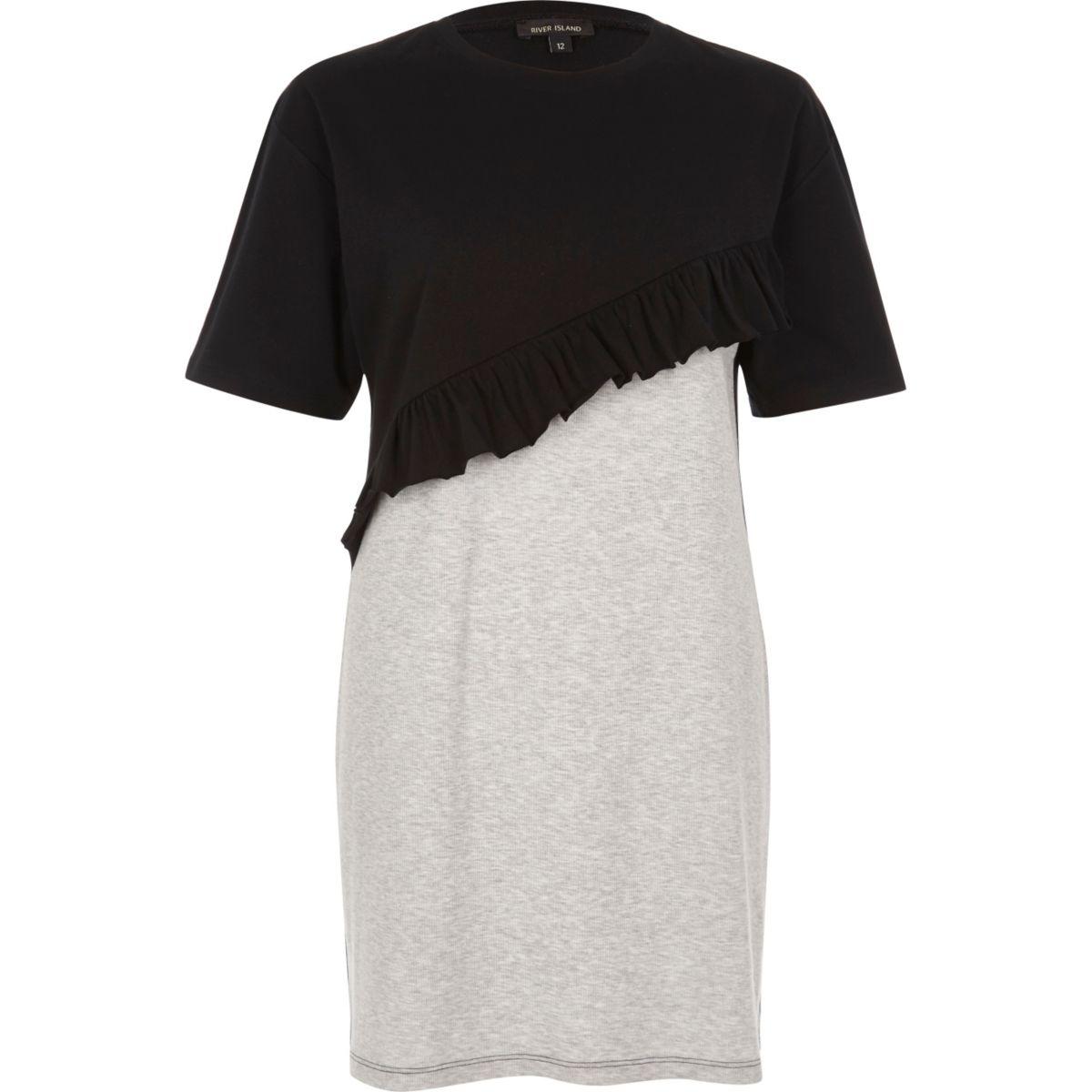 Oversized-T-Shirt mit Rüschen