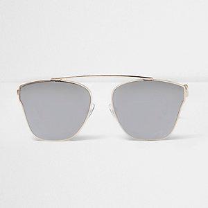 Goudkleurige zonnebril met grijze glazen