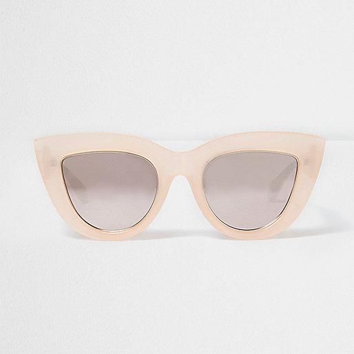 Light pink oversized cat eye sunglasses