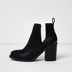 Zwarte laarzen met uitsnede