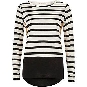 White block stripe top
