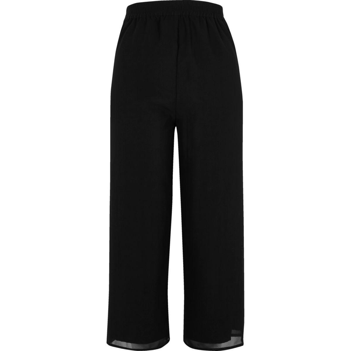 Black embellished soft jogger trousers