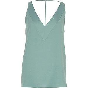 Light green T-bar cami top