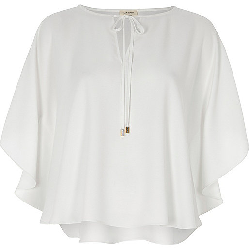 White poncho top