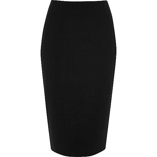 black jersey midi pencil skirt midi skirts skirts