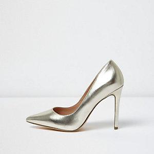 Escarpins dorés métallisés