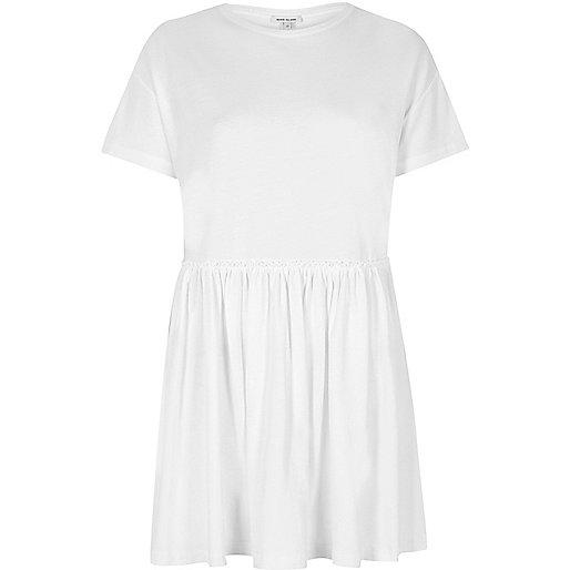 White jumbo smock dress