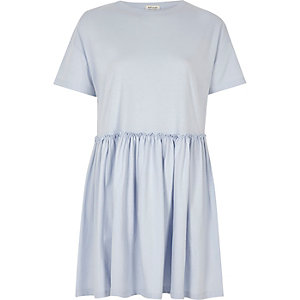 Light blue jumbo smock dress