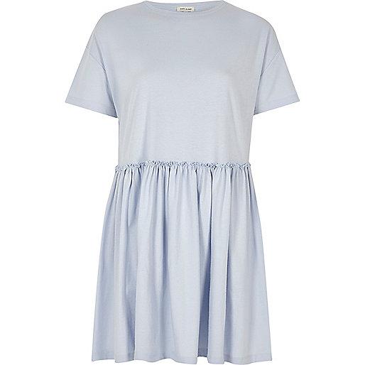 Light blue jumbo smock dress