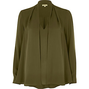 Khaki 2 in 1 blouse