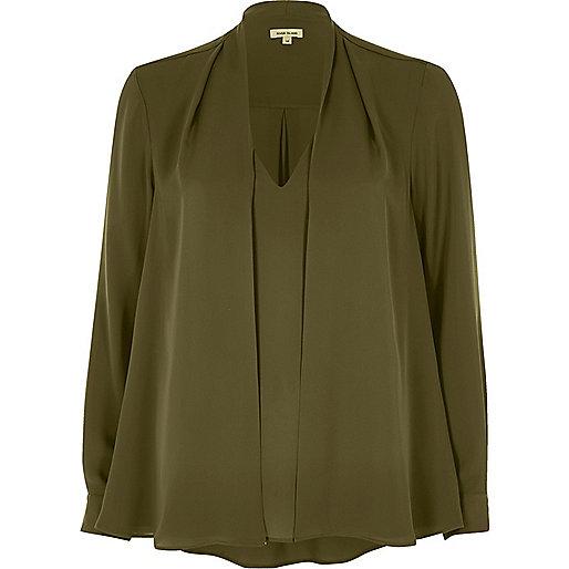 Khaki 2 in 1 blouse