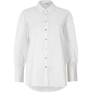 White tie sleeve oversized shirt