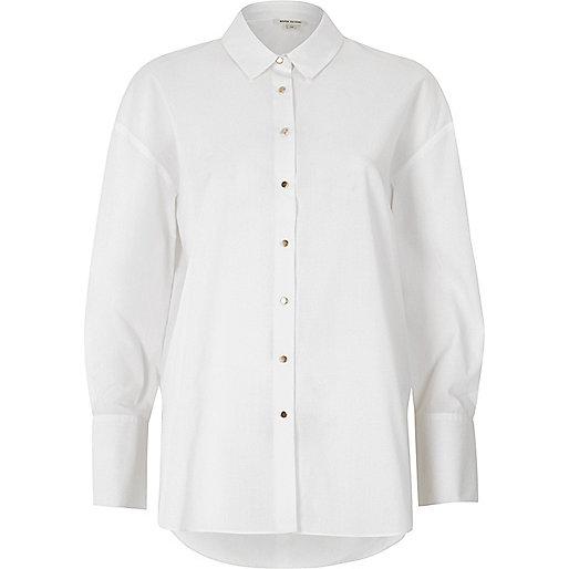 White tie sleeve oversized shirt