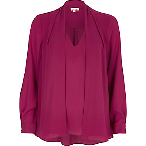 Pink 2 in 1 blouse