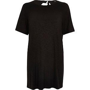 Black backless jumbo T-shirt