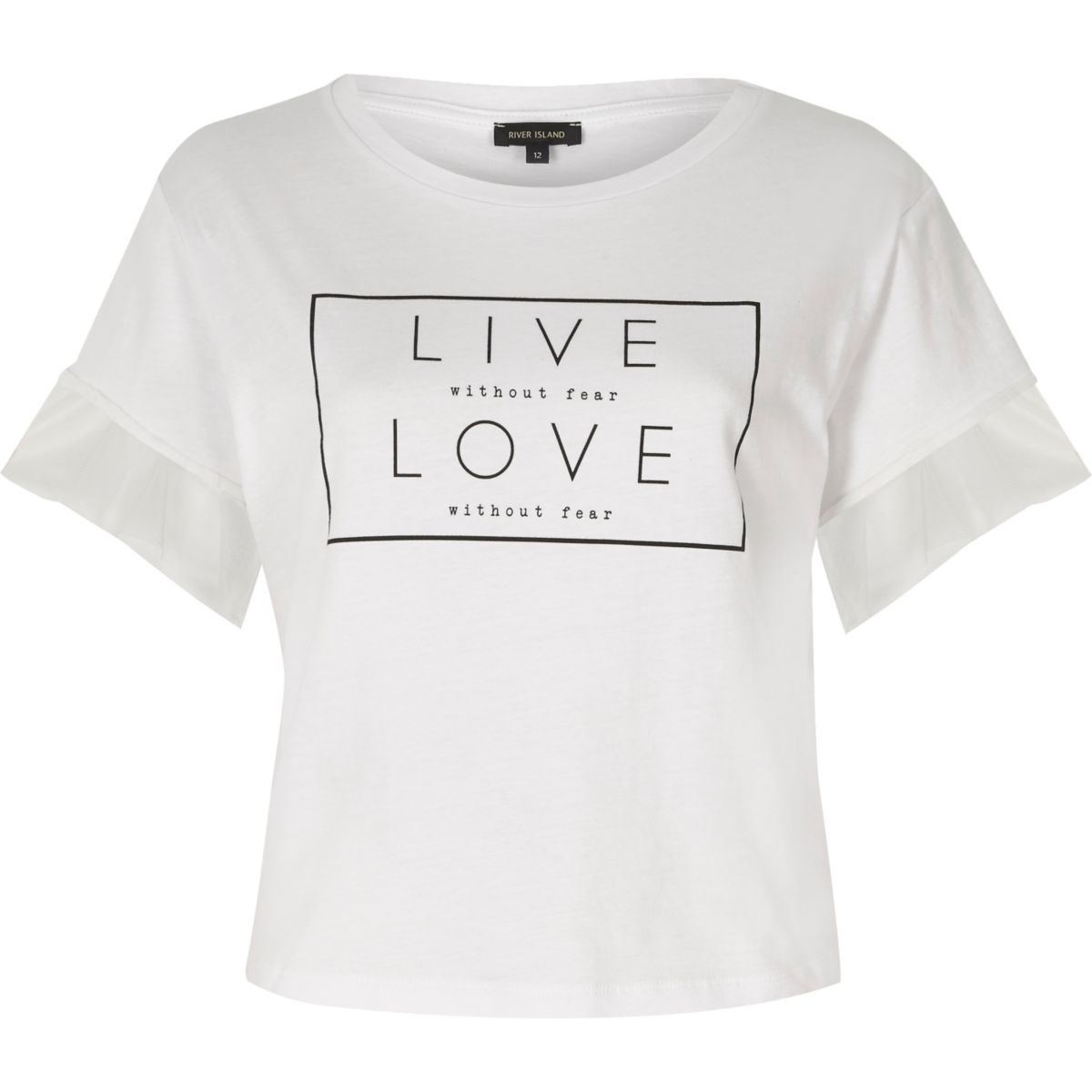 "Weißes T-Shirt ""Live Love"""