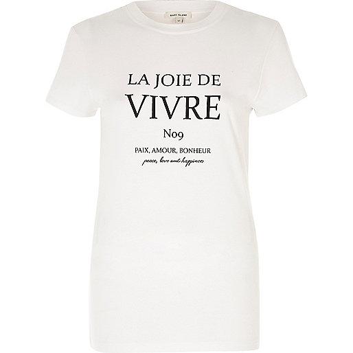 White vivre print T-Shirt