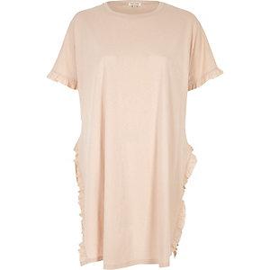 Pink frill jumbo T-shirt