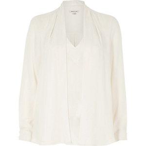 Crèmekleurige 2-in-1 blouse