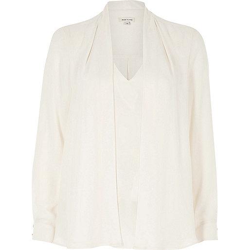 Cream 2 in 1 blouse