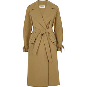 Dark beige classic trench coat