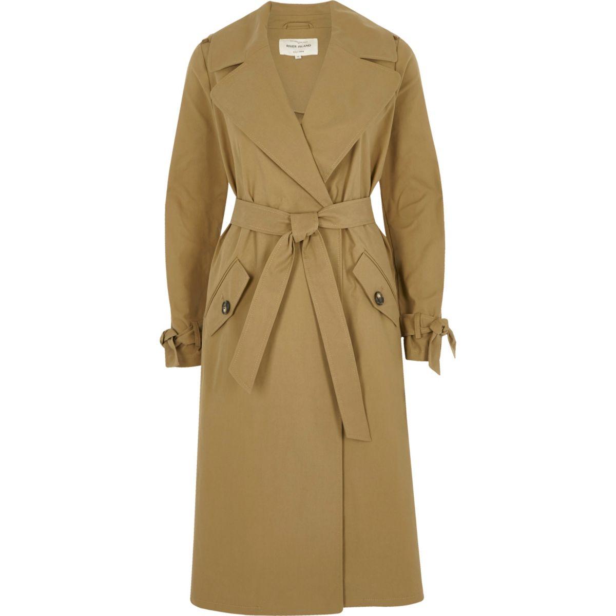 Dark beige classic trench coat